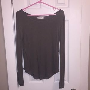 Olive green long sleeved top
